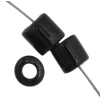 Tube Beads 5.7mm with 2mm Hole Opaque Black